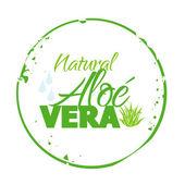 Stamp Natural Aloé Vera — Stock Vector