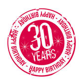 Stamp Happy Birthday 30 years — Stock Vector