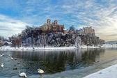 Benedictine Abbey in Tyniec near Cracow, Poland, Winter — Stock Photo