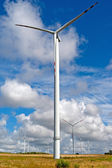 Wind turbines landscape — Stock Photo