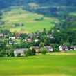 Rural landscape. Miniature (tilt-shift) simulation. — Stock Photo
