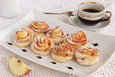 Gül apple kurabiye — Stok fotoğraf