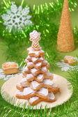 Perníkové vánoční strom — Stock fotografie