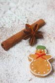 Gingerbread snowman — Stock Photo
