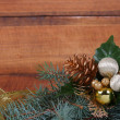 Royalty-Free Stock Photo: Christmas composition with fir branches and decorations