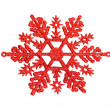 Stock Photo: Red snowflake