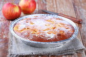 Apple pie on napkin — Stock Photo