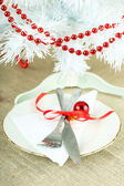 Impostazione tabella Natale — Foto Stock