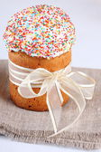Glace wielkanocne ciasto z polewą — Zdjęcie stockowe