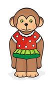La scimmia. con colore — Vettoriale Stock