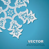 Background vector snowflake — Stock Vector