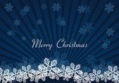 Christmas snow dark blue background — Stock Vector