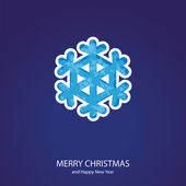 Symbols of Christmas of form snowflake — Vector de stock