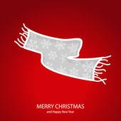 Symbols of Christmas of form muffler — Stock Vector