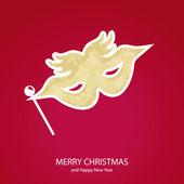 符号的形式掩码的圣诞节 — 图库矢量图片
