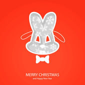 Symbols of Christmas of form hare — Vector de stock