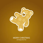 Symbols of Christmas of form teddy bear — Stock Vector