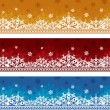 Three backgrounds to Christmas - Stock Vector