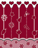 Decorative background with Christmas ornaments — Stock Vector