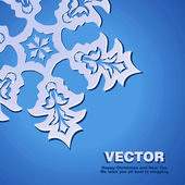 Background vector snowflake — Wektor stockowy