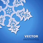 Background vector snowflake — Stock Vector