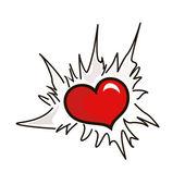 Heart in break — Stock Vector