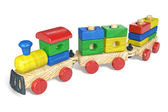 Children's toy a steam locomotive — Stock fotografie
