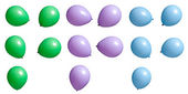 Party Balloons Set 2 — Stock Photo