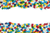 Colorful Pill Borders — Stock Photo