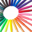 Colorful Marker Circle — Stockfoto