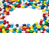 Pill Frame — Stock Photo