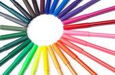 Círculo de marcador colorido — Foto Stock