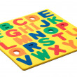 ABC Foam Letters — Stock Photo