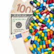 Money and Medicine — Stock Photo