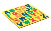 Abc pianki litery — Zdjęcie stockowe