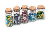 Jars of Pills — Stock Photo
