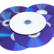 DVD Ready to be Labeled — Stock Photo