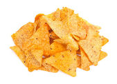 Nacho Cheese Tortilla Corn Chips — Stock Photo