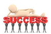 Achieving success. — Stock Photo