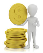 3d small - gold coins. — Stock Photo