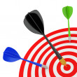 Successfully hit the target. — Foto Stock
