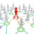 3d small - partners the network. — Stockfoto