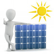 3d small - solar panel. — Stock Photo