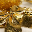 Stock Photo: Golden Christmas ornament