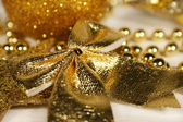 Golden Christmas ornament — Stock Photo