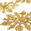 Golden snowflakes — Stock Photo