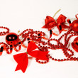 Stock Photo: Red Christmas ornaments