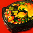 Casket, Khokhlompainting handicraft. — Stock Photo #14834365