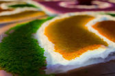 Indian traditional rice picture on a floor — Stock Photo