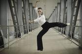 Ballet business girl — Stock Photo